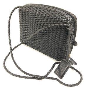 VTG NINE WEST Woven Genuine Leather Crossbody Bag